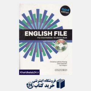 کتاب English File Pre Intermediate SB WB CD