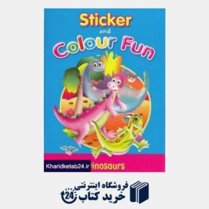 کتاب (Dinosaurs (Sticker and Colour Fun