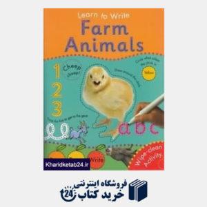 کتاب Learn To Write Farm Animals