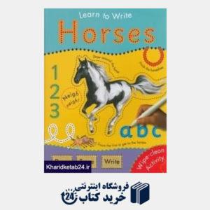 کتاب Learn To Write Horses